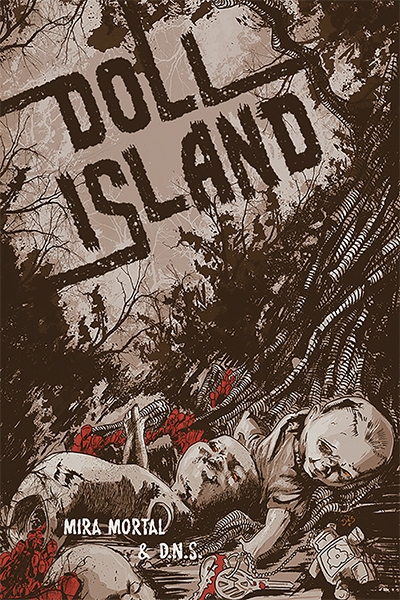 The cover for the new comic Doll Island.